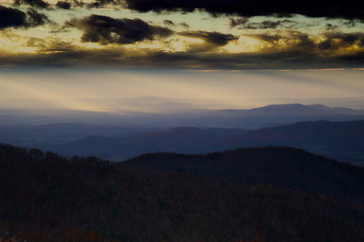 Blue Ridge Mountain sunrise