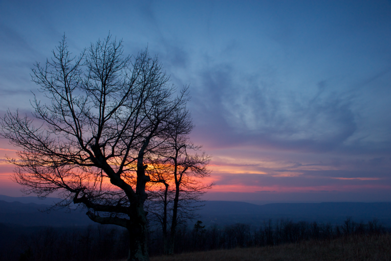 Sunset seen from Skyline Drive