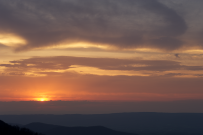 Sunset from Skyline Drive