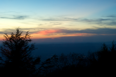 Sunset seen from the Skyland dining room.