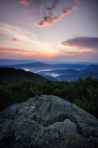 Sunset, Bearfence Mountain, Shenandoah National Park, VA