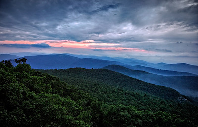 Sunset, Hightop Mountain, Shenandoah National Park, VA