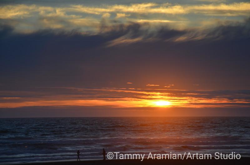 Ocean Beach sunset, San Francisco, June 2012