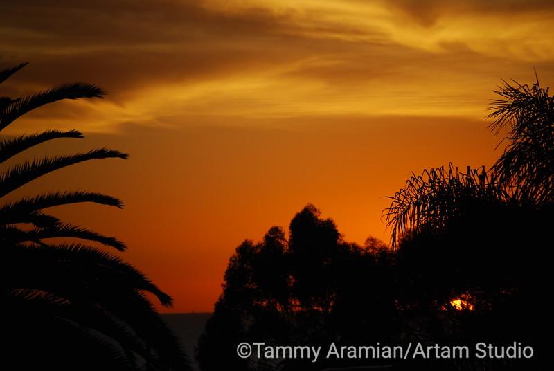 San Clemente sunset, October 2009