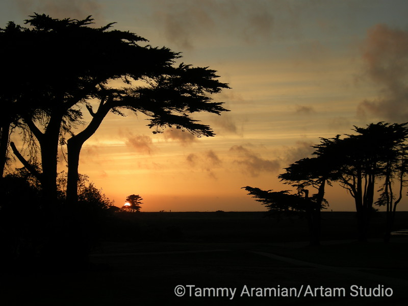 Sharp Park sunset, Pacifica, May 2010