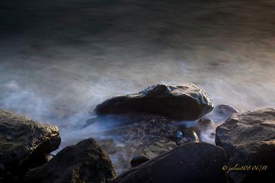 Misty waters, June 19, 2011