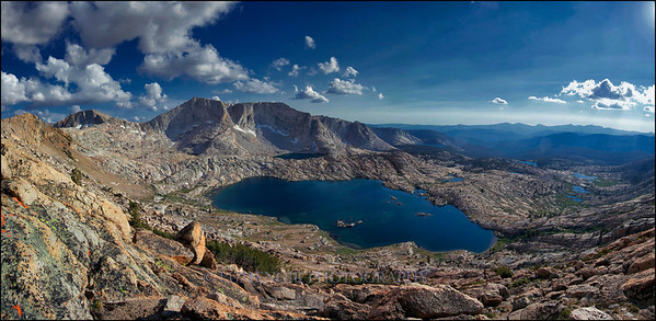 Hell For Sure Pass, Red Mountain Basin in High Sierra, California.