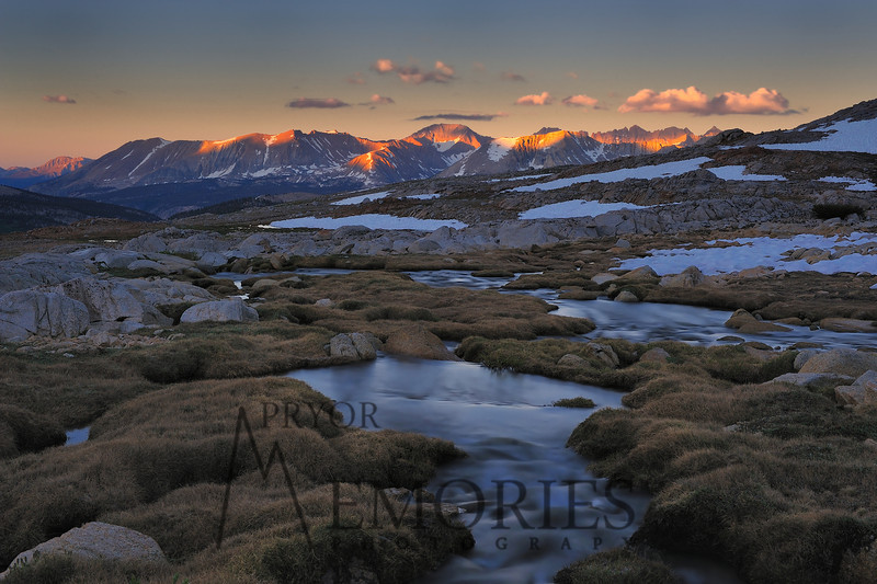 Kaweah Sunrise!<br /> <br /> (Dawn over the Kaweahs from the John Muir Trail, just south of Forester Pass, Sequoia National Park)