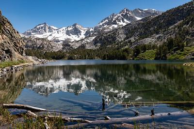 Mount Abbot, Bear Creek Spire, and Long Lake, John Muir Wilderness, California