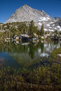 Gem Lake and Spire Peak, John Muir Wilderness, California