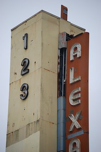 top of damaged blade, Alexandria Theater, San Francisco