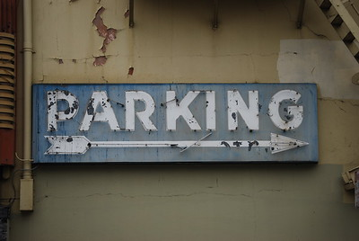 parking sign on 18th Ave. side of Alexandria Theater, San Francisco