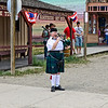 What would a small, mountain town be without a bagpipe lady?