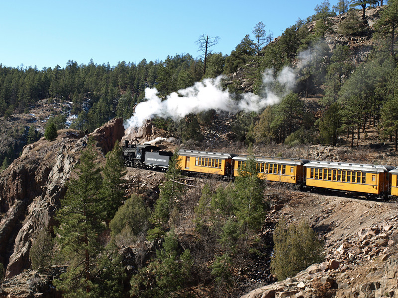 Train on Cliff