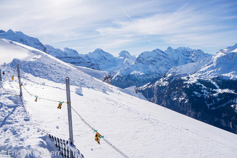 View northwestwards from Männlichen, Grindelwald