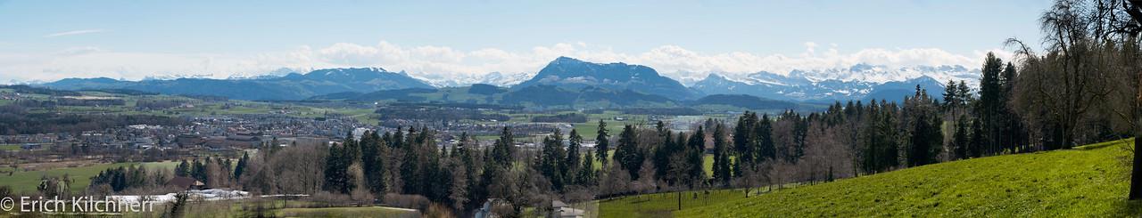 Alpine panorama from Römersberg, Lucerne