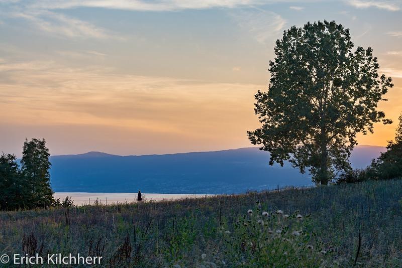 Sunset over Lake Neuchatel
