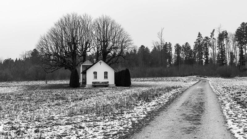 Buschberg chapel in Winter