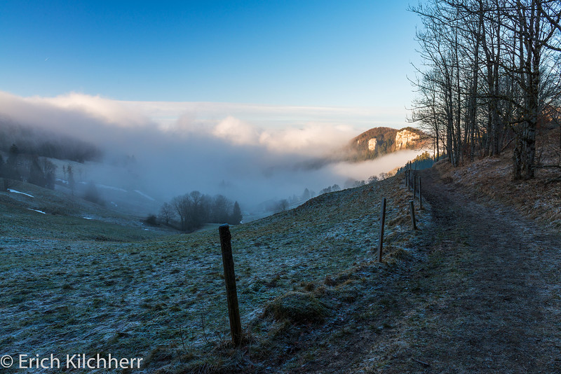 Fog, North of Belchenfluh, Canton Baselland