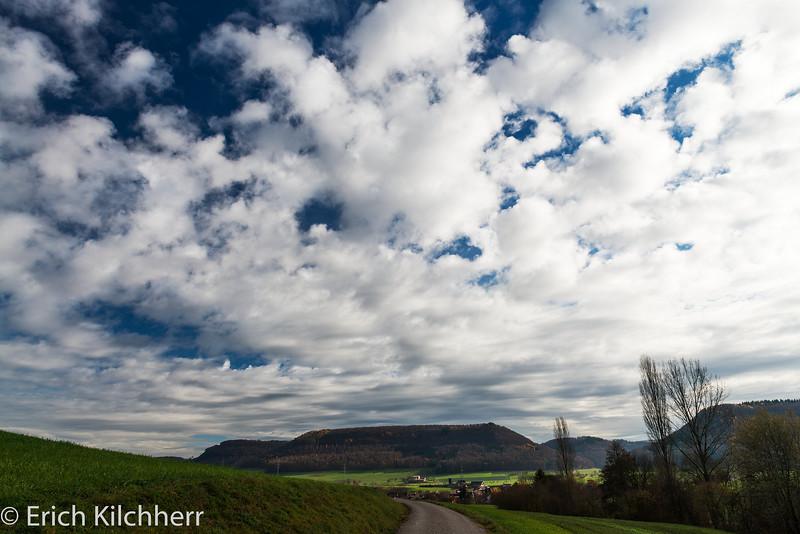 Clouds over Kornberg at Gipf-Oberfrick