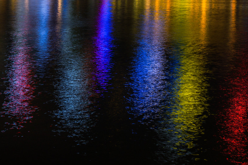 """""""Cityscape Reflections at Night"""""""