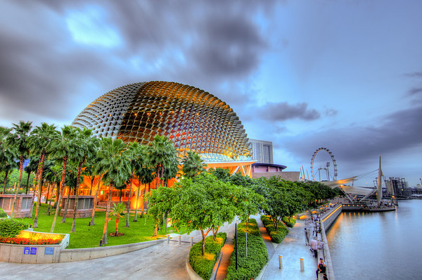 Sunset in Singapore, taken 9 photos and combine them as a HDR photo.