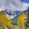 Early Snow and Yellow Aspen, San Juan Mountains of Colorado