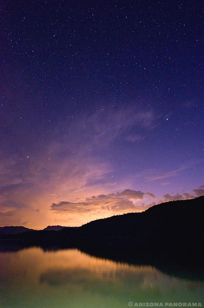 Apache Lake Light Paint