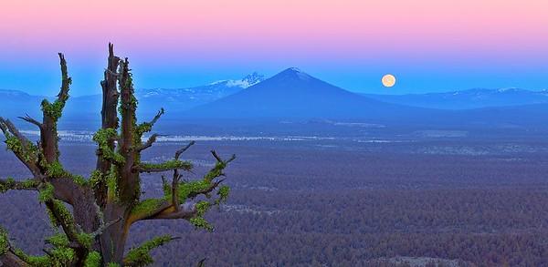 1C5V0560 Black Butte Moonset 17 x 8