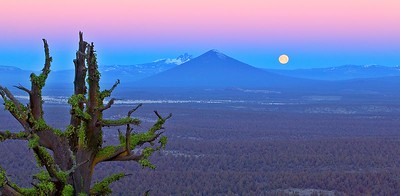 1C5V0560 Black Butte Moonset 17 x 8