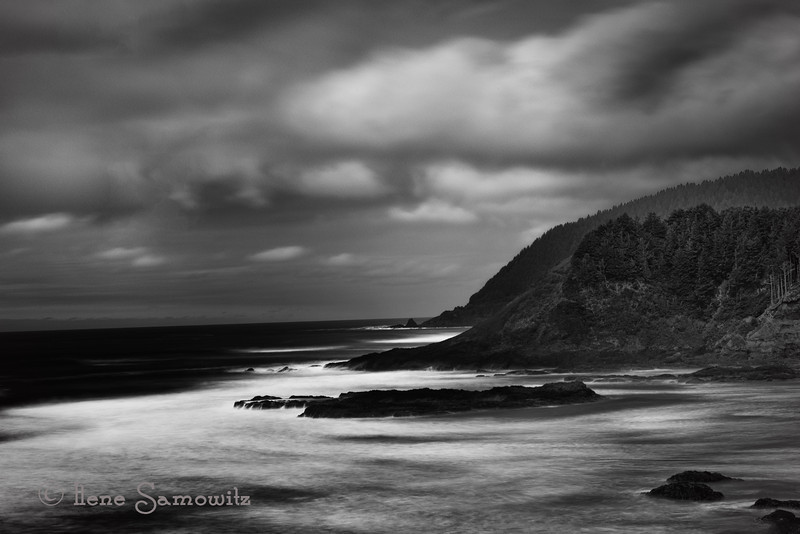 4-15-13 This is a 15 sec long expsure taken on the Cental Oregon Coast at Strawberry Hill looking north.