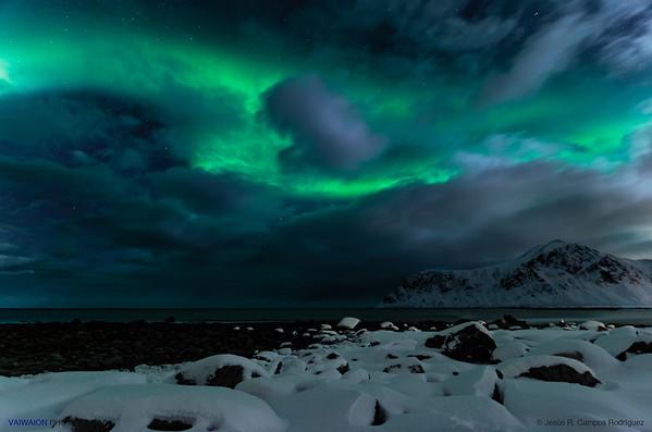 Nightly Aurora Storm. Aurora Borealis (2)