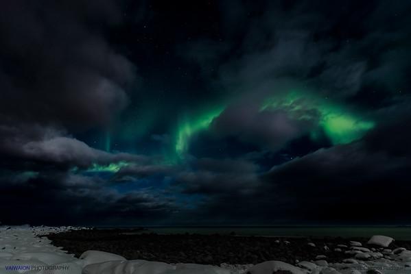 Green Phenomenon in the Night. Aurora Borealis (4)