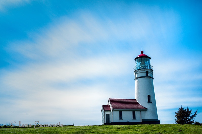 6-20-13 Cape Blanco Lighthouse.  I reworked this and posted the color version of this long exposure.  Taken in 35 mph winds on the Oregon coast.