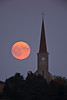 Harvest Moon Over St. Martin's Church, Martinsville, Wisconsin