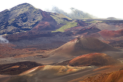 Cinder cones in the summit valley on Haleakala.