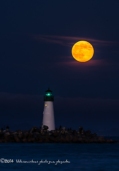 "Full Moon in July 2014 called a ""Full Buck Moon.""<br /> That's a full moon rising and setting at the time of year when bucks – male deer – typically begin to grow their new antlers, starting with velvety bumps on their foreheads.  It's the third of five ""supermoons"" in 2014 – the two new moons of January, and the full moons of July, August, and September. Astronomers and astrologers define a supermoon as a new or full moon which occurs when the moon is at or near its closest approach to Earth in a given orbit – the moon's perigee. <br /> ""Full moon names date back to Native Americans, of what is now the northern and eastern United States,"" explains SPACE.com skywatching columnist Joe Rao. ""Those tribes of a few hundred years ago kept track of the seasons by giving distinctive names to each recurring full moon. Their names were applied to the entire month in which each occurred.""<br /> The full moon names and dates for 2014 include: Full Wolf Moon Jan. 15, Full Snow Moon Feb. 14, Full Worm Moon Mar. 16, Full Pink Moon Apr. 15, Full Flower Moon May 14, Full Strawberry Moon June 13, Full Buck Moon July 12, Full Sturgeon Moon Aug. 10, Full Harvest Moon Sept. 8, Full Hunters' Moon Oct. 8, Full Beaver Moon Nov. 6, and Full Cold Moon Dec. 6.<br /> July's full moon was also called ""Thunder Moon"" because it occurred at the time of year when thunderstorms are frequent.<br /> ""Time is of the essence with this event, because the moon won't be in the sky for long each night,"" writes Sean Breslin for The Weather Channel. ""The Buck Moon will peak in the southern sky about 1 a.m. each night this weekend and will set less than 10 hours after it rises.""<br /> ""If you live along an ocean coastline, watch for high tides caused by these full moons,"" notes earthsky.org, ""Will these high tides cause flooding? Probably not, unless a strong weather system accompanies the perigean spring tide. Still, keep an eye on the weather, because storms do have a large potential to accentuate perigean spring tides."""