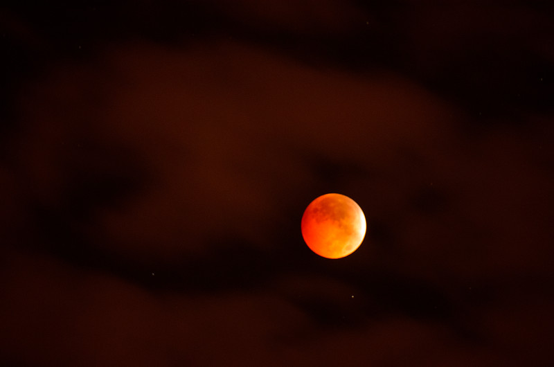 Blood Moon;  Omaha, NE.  10/08/2014