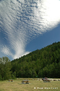 Cloud formations seen at Shuswap Lake, British Columbia.