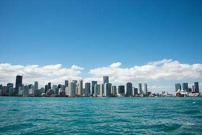 Miami Skyline from Biscayne Bay