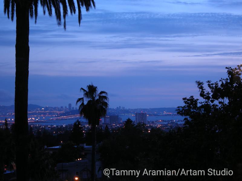 San Francisco at dusk from Oakland hills, June 2009