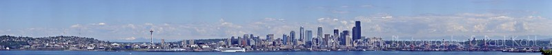 Seattle skyline, 22 pictures, taken with camera turned 90 degrees. (Portrait instead of Landscape)