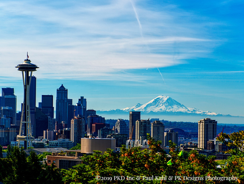 A beautiful, haze-less, clear morning from Kerry Park.