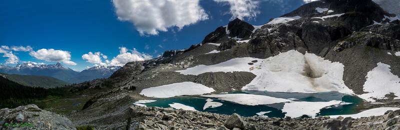 Iceberg Lake and the mountains north of Blackcomb