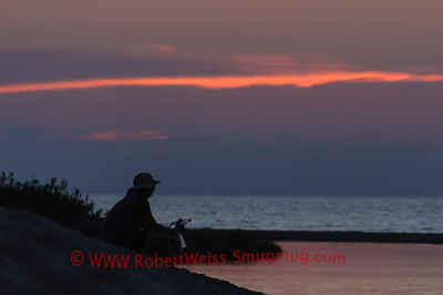 Watching the sunset over Lake Michigan, Sleeping Bear Dunes National Lakeshore.