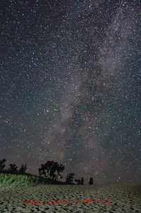 Milky Way over the Dune Climb area of Sleeping Bear National Lakeshore.