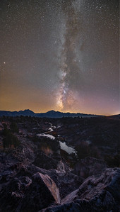 Hot Creek Milky Way