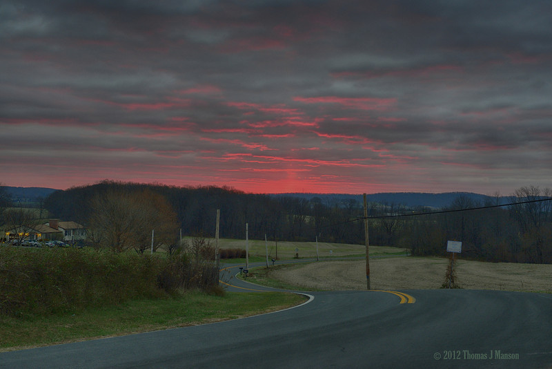 Sunrise over Jefferson, MD
