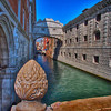 The Bridge of Sighs, from the bridge along the Grand Canal