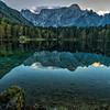 Lower Mangart Lake Near Sunset